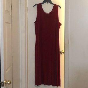 Coldwater Creek gorgeous red dress large.